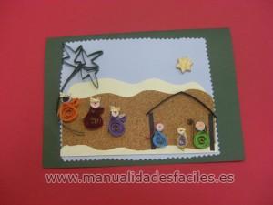 Tarjeta belen de navidad manualidades faciles - Tarjetas de navidad faciles ...