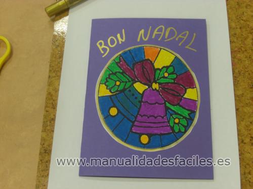 Tarjeta de navidad manualidades faciles - Tarjeta de navidad para ninos manualidades ...