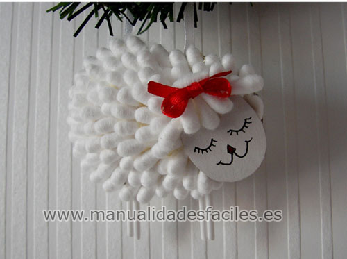Adorno oveja de navidad manualidades faciles - Manualidades para navidades faciles ...
