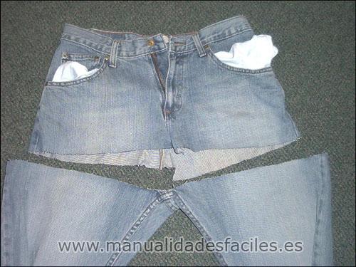 Bolso de vaqueros reciclados manualidades faciles - Decorar pantalones vaqueros ...