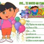 invitacion DORA LA ESPLORADORA