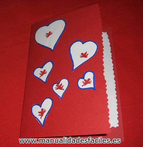 Tarjeta De San Valentin Cupido Manualidades Faciles