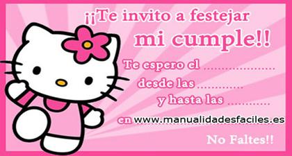1dce11e9c INVITACIONES DE CUMPLEAÑOS LISTAS PARA IMPRIMIR!!! – Manualidades ...