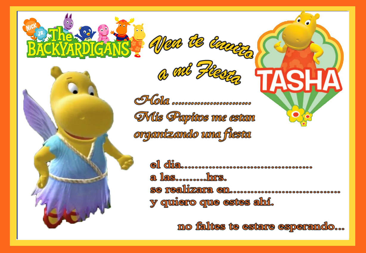 INVITACIONES DE CUMPLEAOS LISTAS PARA IMPRIMIR!!! | Manualidades ...