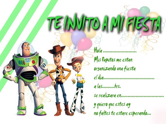 Invitaciónes Para Tres Años De Toy Story Gratis Imagui