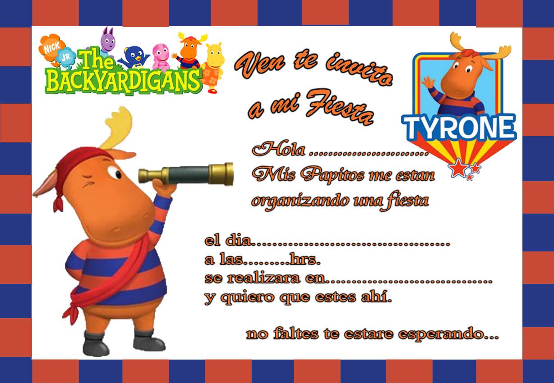 Backyardigans Tarjetas De Invitación Para Imprimir Gratis