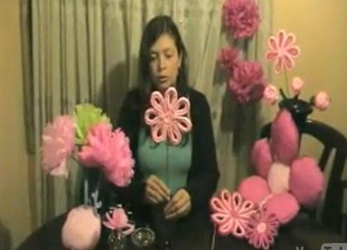 Video Para Hacer Flores Con Papel Seda Manualidades Faciles