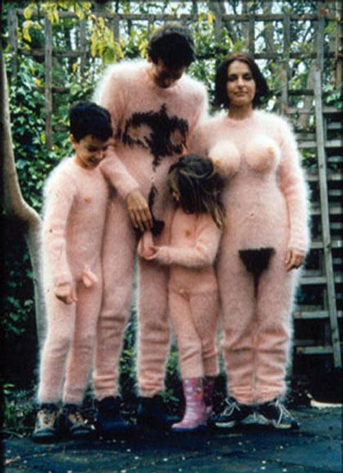 Tubos nudistas de la familia estadounidense