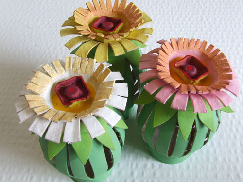 Toilet Paper Roll Flowers Tutorial Egg-Carton