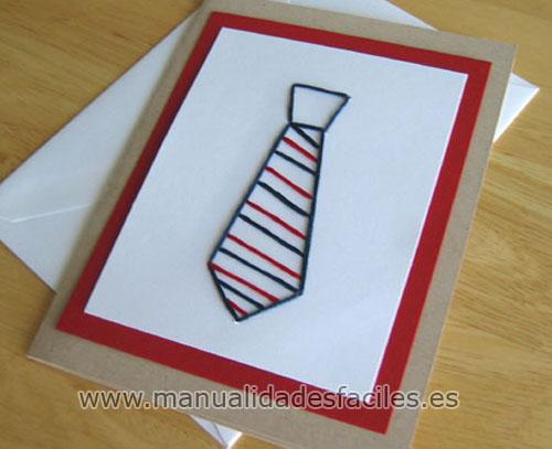 Tarjeta corbata para el dia del padre   Manualidades faciles