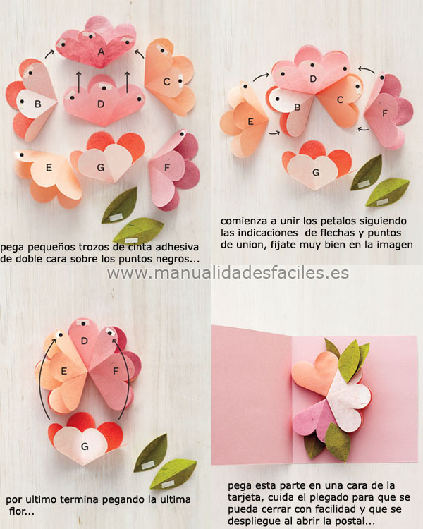 tarjeta pop up para el dia de la madre