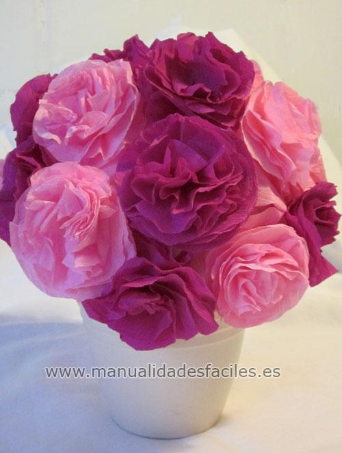 Manualidades Con Flores De Papel