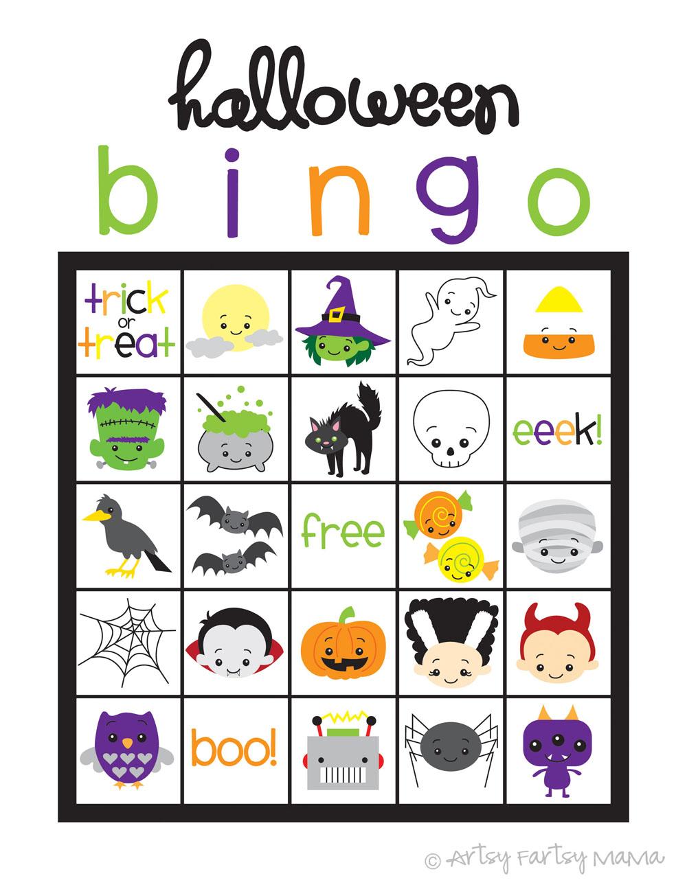 Bingo para Halloween   Manualidades faciles