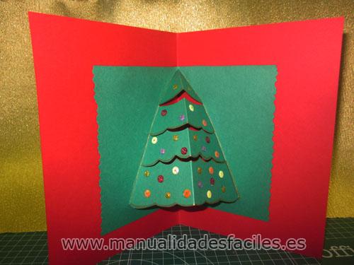Tarjeta de navidad en 3d manualidades faciles - Tarjetas de navidad faciles ...