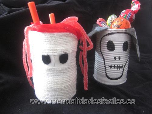 manualidades con material reciclado para halloween Portgolosin1