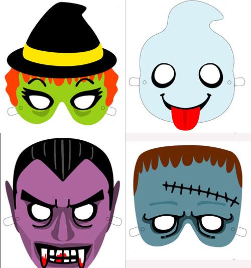 Mascaras de halloween para imprimir   Manualidades faciles