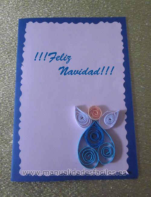 Tarjetas de navidad en filigrana manualidades faciles - Tarjetas de navidad faciles ...