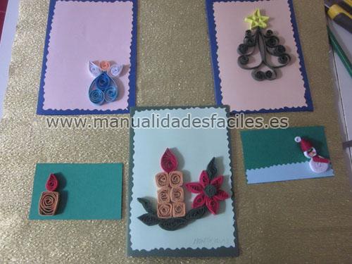 Tarjetas de navidad en filigrana Manualidades faciles