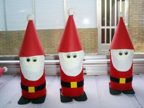 Baño Con Refresco Rojo:Manualidades De Navidad Con Material Reciclado