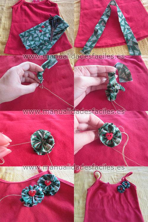 Flores de tela manualidades faciles - Flores de telas hechas a mano ...