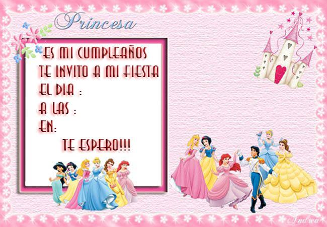 Tarjetas de cumpleaños de princesas Disney | Manualidades faciles
