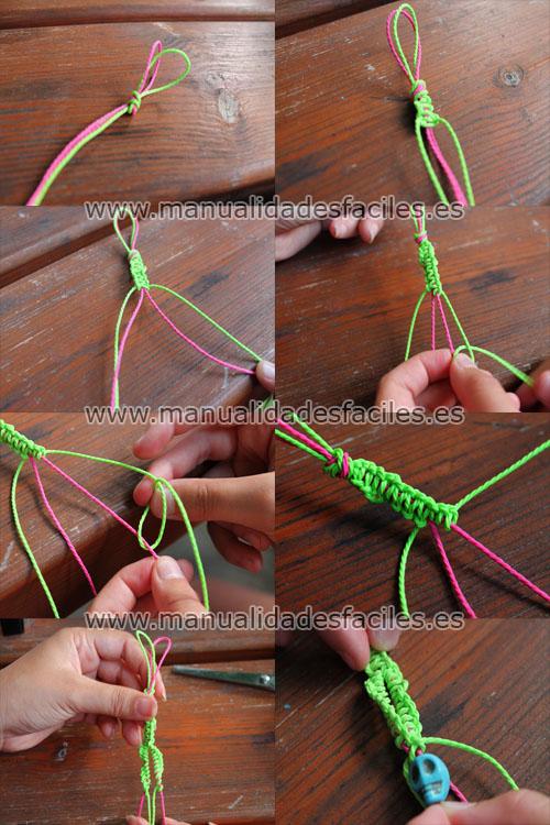 Pulsera tejida para el pie manualidades faciles - Manualidades faciles para vender paso a paso ...