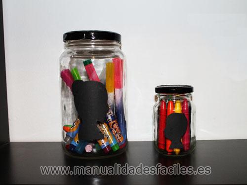 Como decorar botes de cristal reciclados manualidades - Manualidades con botes de cristal ...