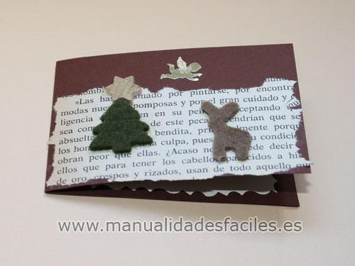 Tarjeta de Navidad Manualidades faciles
