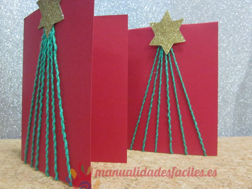 Estrella de navidad manualidades faciles part 2 - Como hacer tarjetas de navidad faciles ...