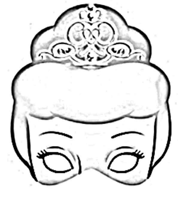 Mascaras de princesas para imprimir, pintar y recortar ...