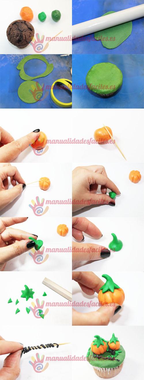 Cupcakes Halloween calabazas | Manualidades faciles