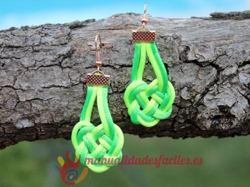 pendientes-nudo-verdes