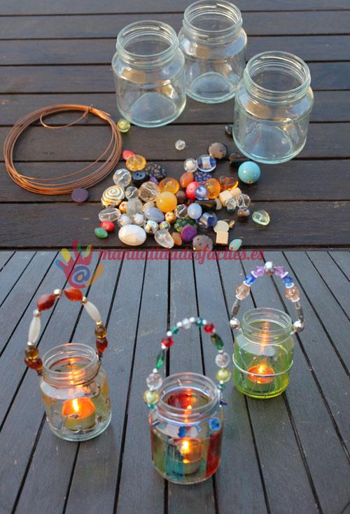 Portavelas con vidrio reciclado manualidades faciles - Portavelas cristal ...