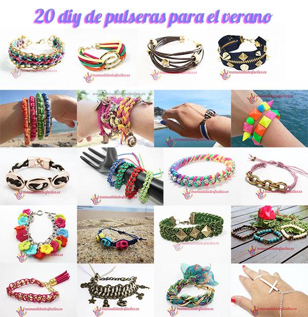 20 diy de pulseras f ciles manualidades faciles - Manualidades faciles para vender paso a paso ...