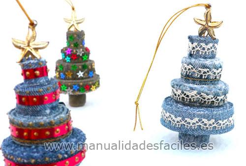 Arbol de navidad hecho con retales de tela manualidades - Arbol de navidad tela ...