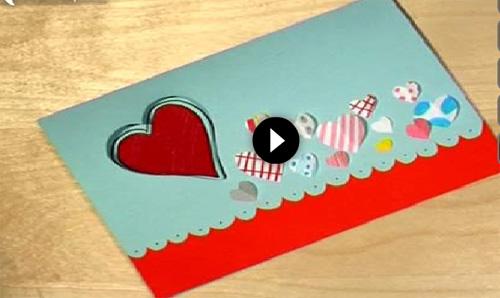 Video De Tarjeta De San Valentin Manualidades Faciles