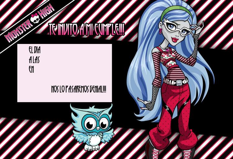 Invitaciones De Cumpleaños De Monster High Manualidades